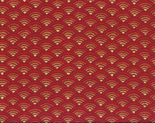 Discount Fabric Richloom Upholstery Drapery Radar Red Abstract Sunset NN24