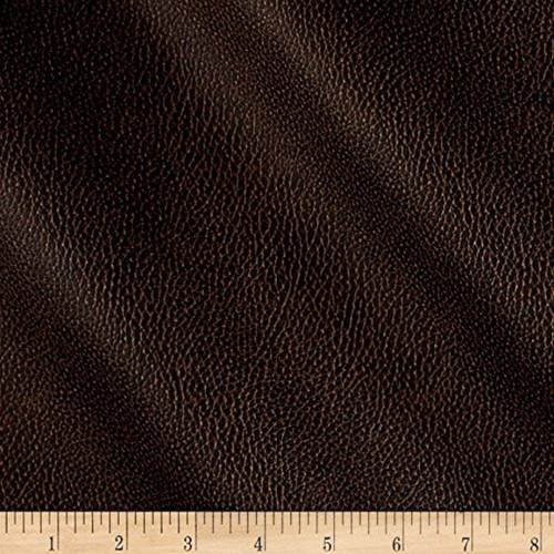 Discount Fabric Richloom Tough Faux Leather Pleather Vinyl Bryant Chestnut RR41