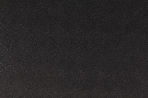 Fabric Richloom Tough Faux Leather Pleather Vinyl Beveled Black Diamond OO41