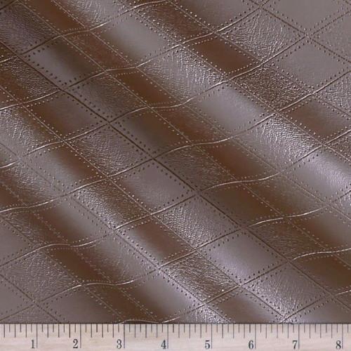 Fabric Richloom Tough Faux Leather Pleather Vinyl Hovland Copper Diamond PP41