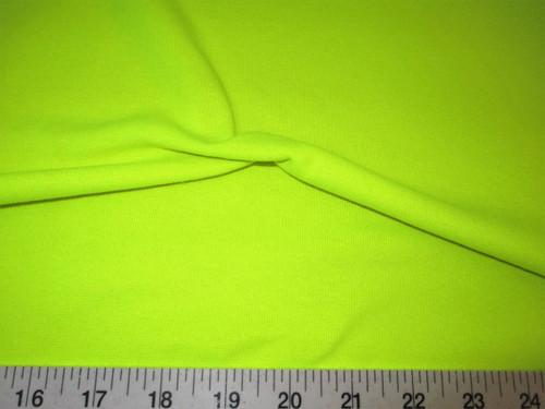 Discount Fabric Tubular Cotton Jersey Lycra Spandex Knit Neon Yellow TB108