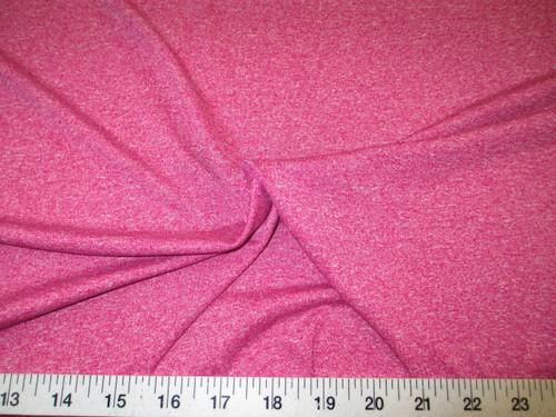 Discount Fabric Polyester Lycra Spandex 4 way stretch Heather Raspberry LY716