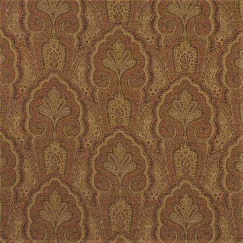 Fabric Robert Allen Beacon Hill Ashland Clay Linen Wool Floral Drapery HH40
