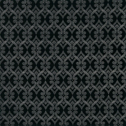 Fabric Robert Allen Beacon Hill Fenerty Black and White Dots Upholstery *J40