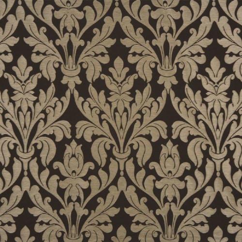 Fabric Robert Allen Beacon Hill Damask Raffia Walnut Upholstery Drapery II20