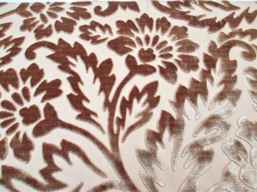 Fabric Robert Allen Beacon Hill Simran Topaz Silk Velvet Floral Upholstery *J30
