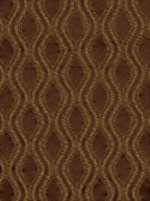 Fabric Robert Allen Beacon Hill Ovalos Umber Brown Silk Upholstery Drapery HH24