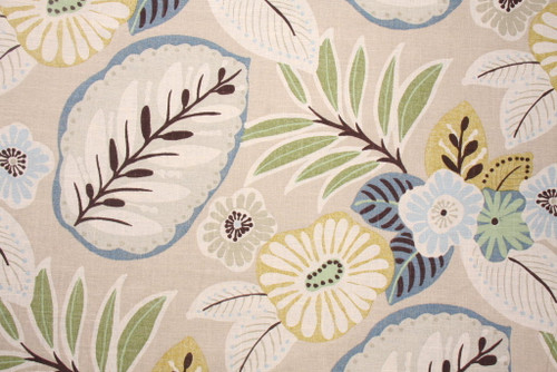 Discount Fabric Richloom Upholstery Drapery Landor Beachcomber Floral GG31