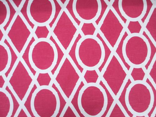 Discount Fabric Robert Allen Upholstery Drapery Lattice Bamboo Raspberry EE22