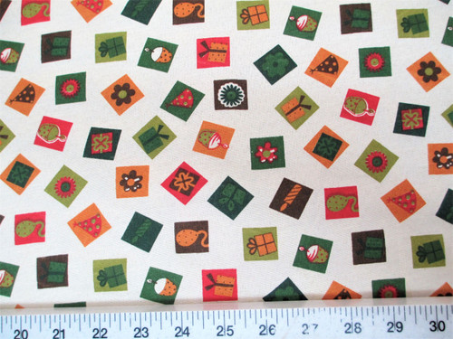 Discount Fabric Quilting Cotton Christmas Celebration Boxes Presents T23