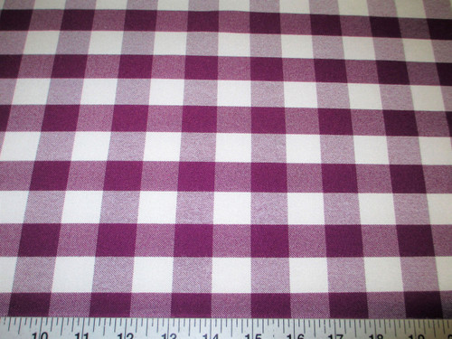 Discount Twill Tablecloth Fabric Purple and White Check BB10