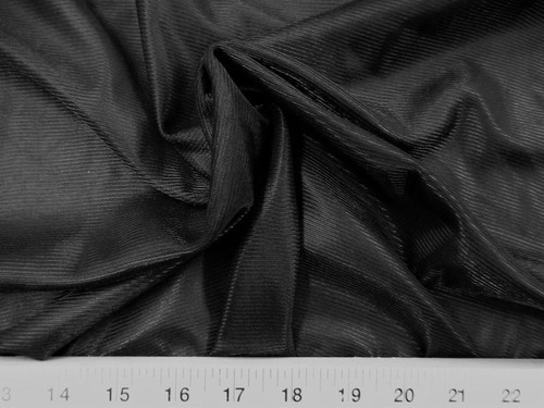 "Discount Fabric 108"" wide Aerial Silks Acrobatic Dance Stretch Tricot Black TR15"