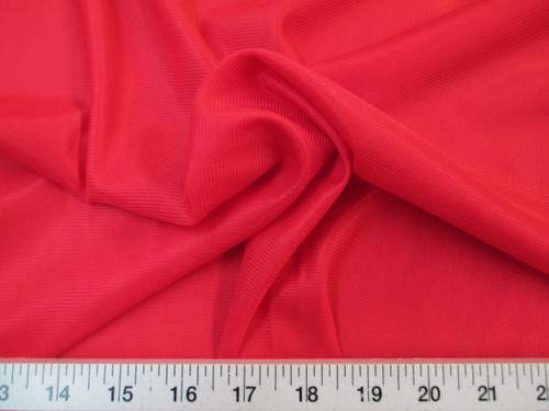 "Discount Fabric 108"" wide Aerial Silks Acrobatic Dance Stretch Tricot Red TR06"