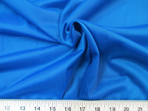 "Discount Fabric 108"" wide Aerial Silks Acrobatic Dance Stretch Tricot Royal Blue TR09"