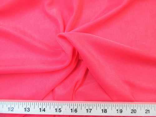 Discount Fabric Nylon 40 Denier Tricot Stretch Dark Coral 108 inch wide TR10