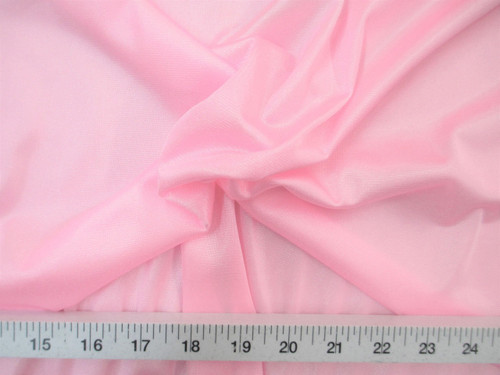 Discount Fabric Nylon 40 Denier Tricot Stretch Light Pink 108 inch wide TR16