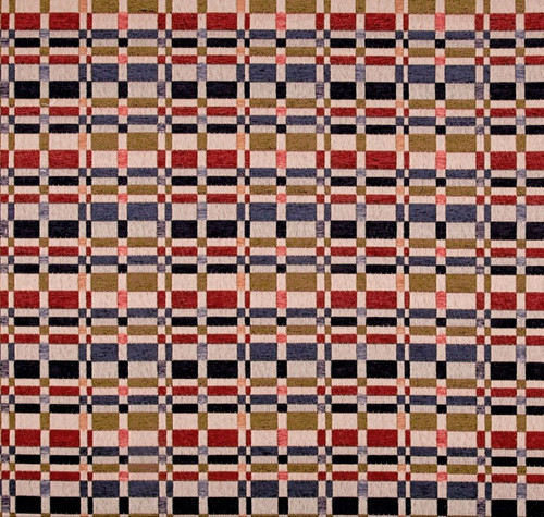 Discount Fabric Richloom Upholstery Drapery Prodigy Americana Chenille Plaid FF3