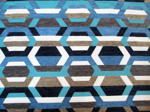Discount Fabric Richloom Upholstery Drapery Crosby Indigo Yarn Dye Chenille EE410