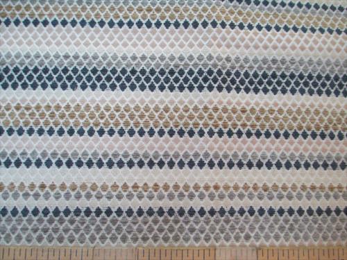 Fabric Richloom Upholstery Drapery Vasan Beach Diamond Stripe Chenille SS11