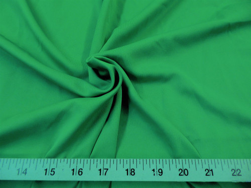 Discount Fabric Techno Scuba Polyester Spandex 4 way Stretch Kelly Green TS03
