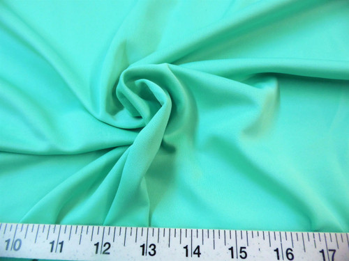Discount Fabric Techno Scuba Polyester Spandex 4 way Stretch Mint Green TS07