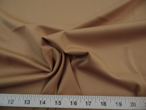 Discount Fabric Techno Scuba Polyester Spandex 4 way Stretch Camel TS12