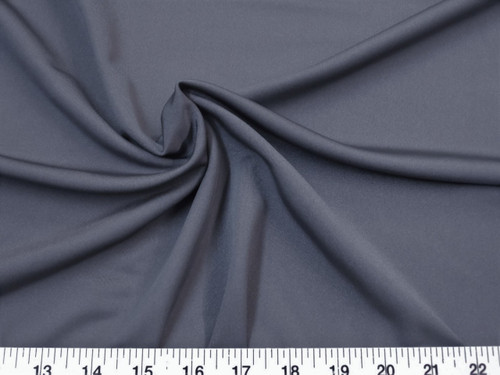 Discount Fabric Nylon Lycra Spandex 4 way stretch Slate Gray Grey NLY15