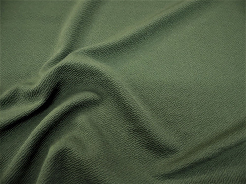 Discount Fabric Liverpool Textured 4 way Stretch Scuba Olive Drab Green LP14