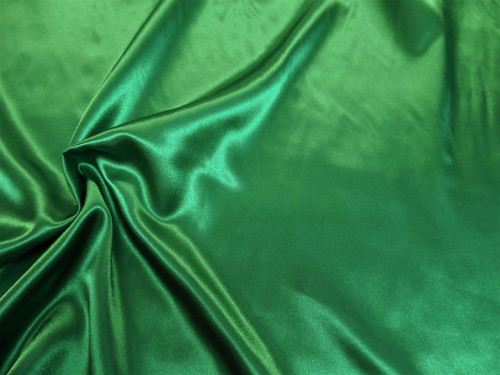 Discount Fabric Charmeuse Silky Bridal Satin Apparel Emerald Green CS19
