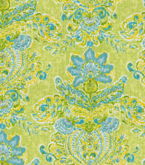 Fabric Upholstery Drapery Waverly Dena Designs Crystal Vision Citrus Linen EE302