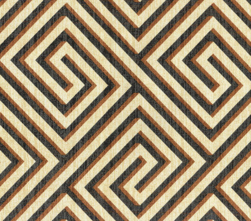 Discount Fabric Upholstery Drapery IMAN Banji Sepia Geometric Black Brown EE26