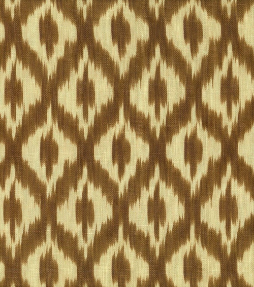 Fabric Upholstery Drapery Waverly Williamsburg Dedra Cocoa Ikat Lattice F103