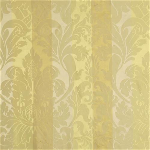 Fabric Robert Allen Beacon Hill Baroness Yellow Lotus Silk Stripe Floral *J15