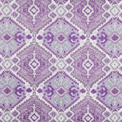 Fabric Robert Allen Beacon Hill Tali Ikat Silver Purple Tribal Upholstery *J317