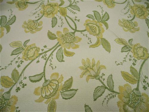 Fabric Robert Allen Beacon Hill Pennine Leaf Gold Silk Embroidered Floral *J46