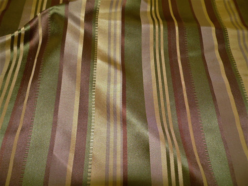 Fabric Robert Allen Beacon Hill Satin Ribbon Moss Green 100% Silk Drapery JJ17