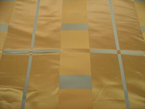 Fabric Robert Allen Beacon Hill Studio Plaid Warm Gold Silk Drapery JJ26