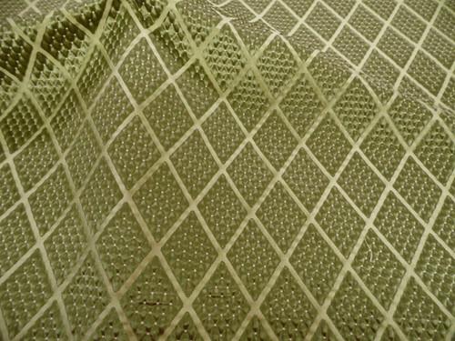 Fabric Robert Allen Beacon Hill Romandie Leaf Green Silk Matelasse Diamond JJ36