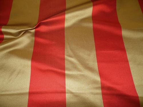 Fabric Robert Allen Beacon Hill Modern Stripe Fire Silk Upholstery Drapery JJ37
