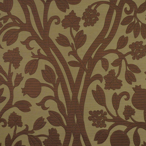 Fabric Robert Allen Beacon Hill Amerikey Teak Silk Matelasse Floral Drapery II14