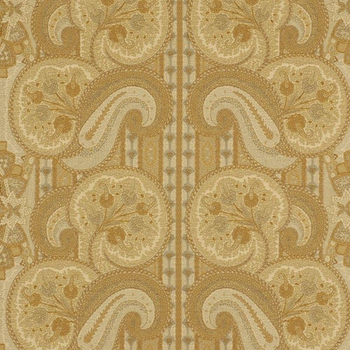 Fabric Robert Allen Beacon Hill La Alianza Yellow Lotus Paisley Drapery II36