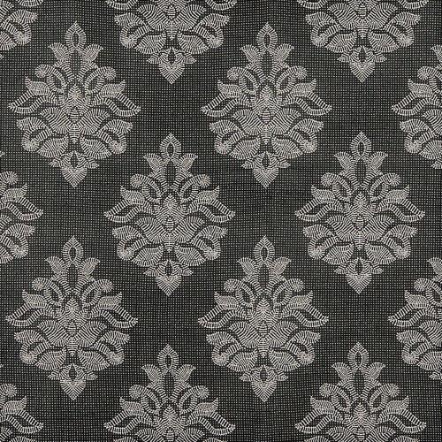 Fabric Robert Allen Beacon Hill Sea Rose Black White Silk Drapery HH36