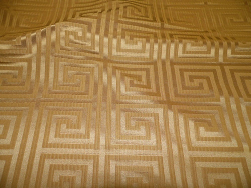 Fabric Robert Allen Beacon Hill Helene Key Warm Gold Silk Drapery HH37