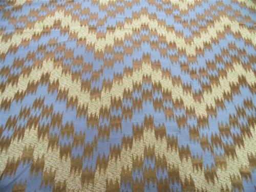 Fabric Robert Allen Beacon Hill Bienville Teak Silk Ikat Chevron Drapery HH48