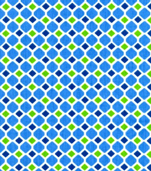 Fabric Upholstery Drapery Waverly Crystallize Luna Diamond Blue Green CC27