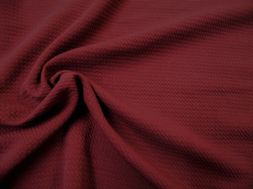Bullet Textured Liverpool Fabric 4 way Stretch Burgundy Wine S20
