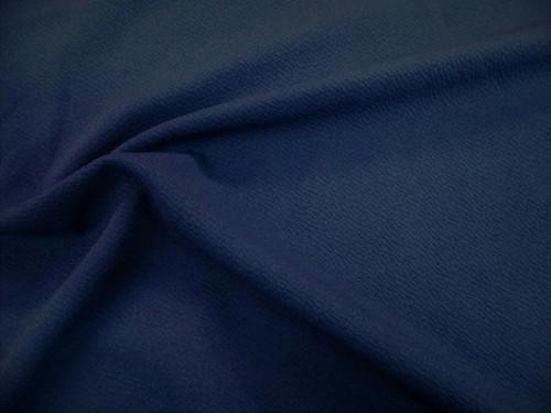 Liverpool Textured Fabric 4 way Stretch Scuba Navy L500