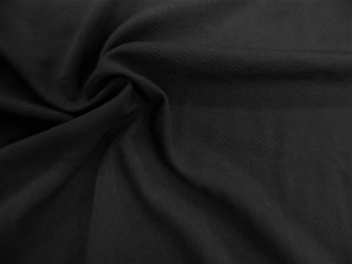 Liverpool Textured Fabric 4 way Stretch Scuba Black L400