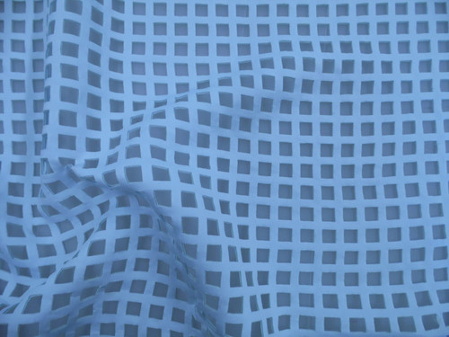 Sculptured Liverpool Textured Fabric 4 way Stretch Baby Blue I508