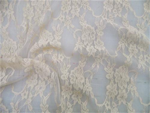 Stretch Mesh Lace Fabric Light Nude Floral Sheer Metallic Sheen A208